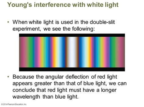 interference pattern for white light young s double slit experiment ppt video online download