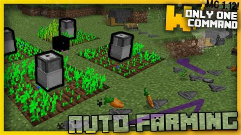 Minecraft Auto Planter by Minecraft Automatic Farming Machines With Only Two