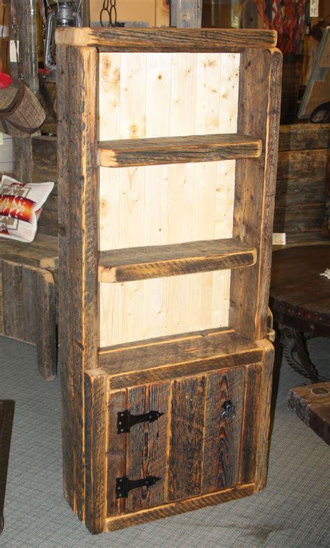 barnwood bookcase with door durango trail rustic furniture