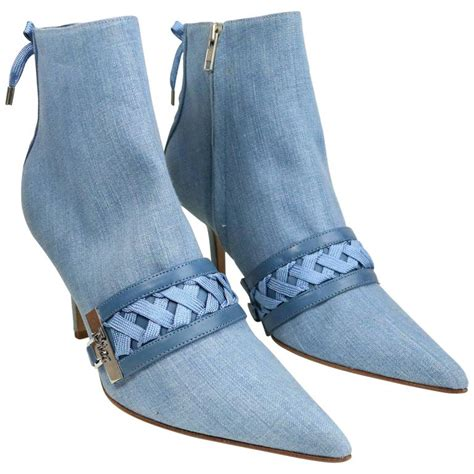 christian denim ankle boots for sale at 1stdibs