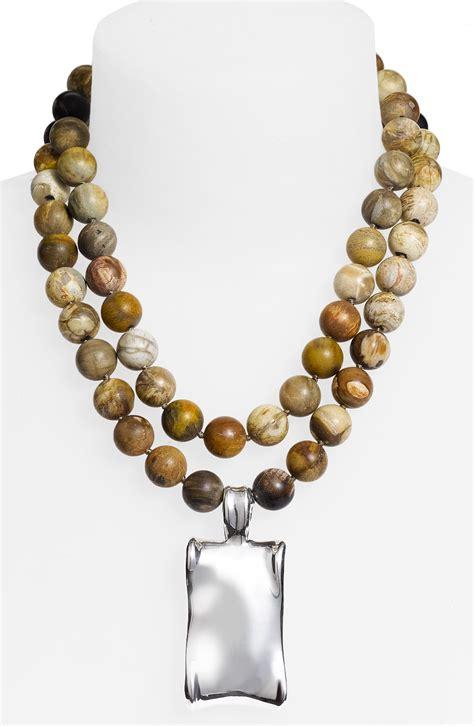 simon sebbag organic rectangular pendant necklace