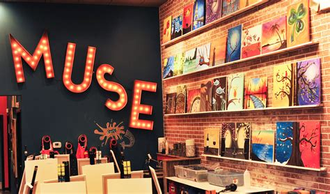 muse paintbar nyc boozy painting brand lands space at willow lawn richmond