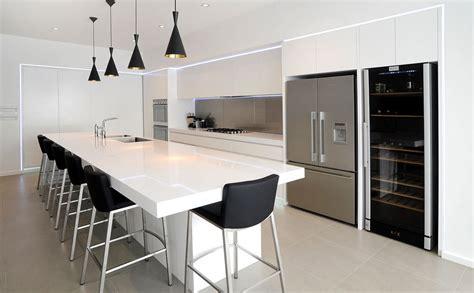 Contemporary Kitchen Island Lighting Designer Contemporary Kitchen Black And White Neo Design