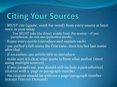 what are sources in a research paper research paper citing your sources