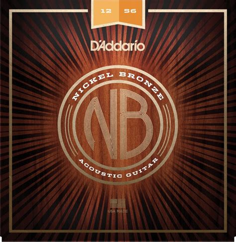 light top heavy bottom strings d addario nb1256 nickel bronze acoustic strings 012 056 light top heavy bottom sweetwater