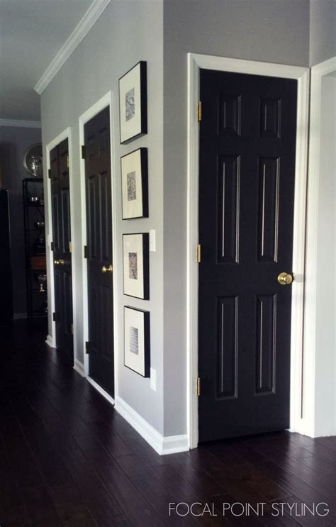 black painted interior doors 25 best ideas about painting interior doors on