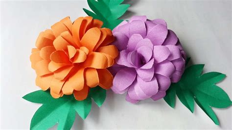 Floral Craft Paper - how to create pretty paper flowers diy crafts tutorial