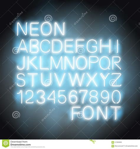 free download neon typography neon light font stock vector image 57090969