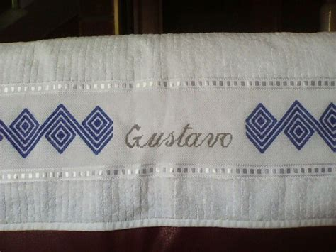 cenefas punto de para toallas decoraci 243 n de toallas en punto imagui