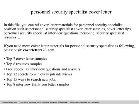 It Network Specialist Cover Letter by Personnel Security Specialist Cover Letter