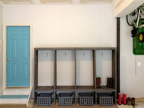 diy mudroom lockers garage mudroom makeover