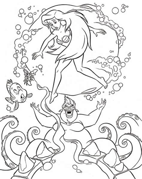 little mermaid ursula coloring pages walt disney characters images walt disney coloring pages