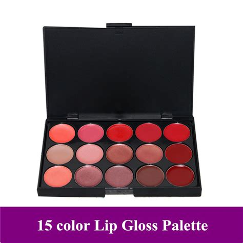 Make Lip Color Pallette free shipping pro 15 color make up lip gloss palette makeup lipstick cosmetic in lip