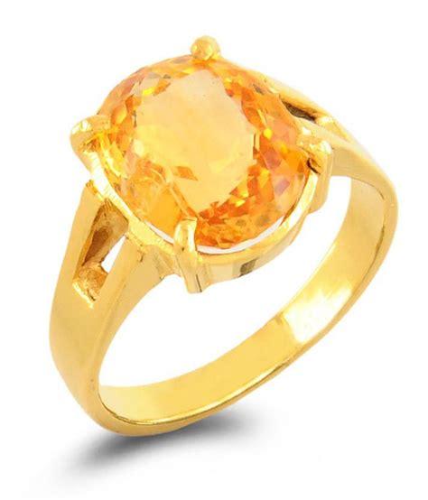barishh gems citrine substitute yellow sapphire ring buy