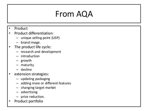 design mix definition business studies aqa gcse business new spec 3 5 4 the elements of the