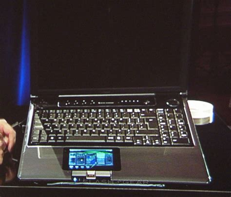 Laptop Second Asus Dual ces 2009 asus dual computing laptop with touchscreen trackpad slashgear