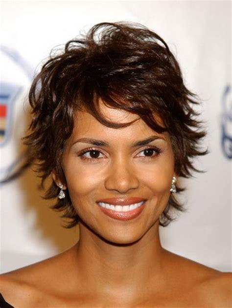 short flip hair style for black women short layered shaggy haircuts
