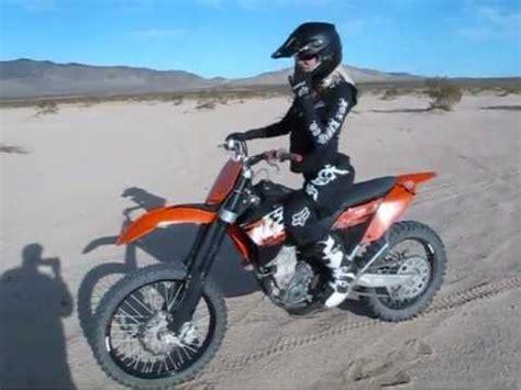 big and motocross gear rides ktm 505 dirt bike