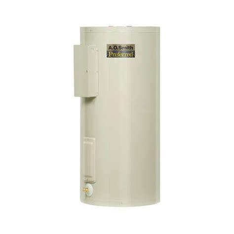 DEL 40D   AO Smith DEL 40D   40 Gallon Dura Power DEL Commercial Electric Water Heater   Lowboy