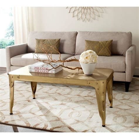 Gold Coffee Tables Living Room Safavieh Classic Gold Coffee Table Fox7205b The Home Depot