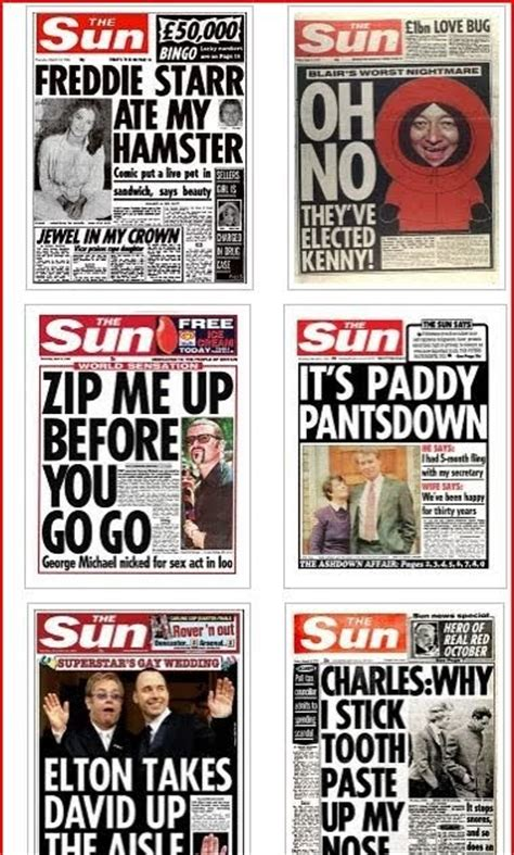 Top 20 Classic by Jon Slattery Top 20 Classic Headlines Made In Tabloid Heaven