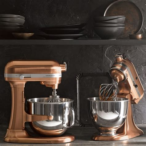 rose gold kitchen appliances kitchenaid 174 metallic series 5 qt stand mixer williams
