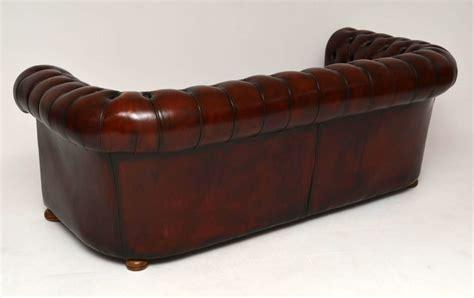 Sofa Leather Antik antikes leder chesterfield sofa
