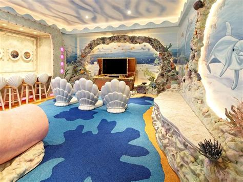 ocean theme bedroom under the sea themed room eclectic media room