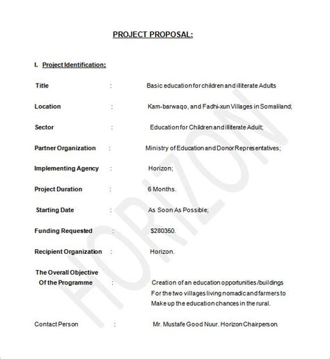 proposal format education project proposal template 56 free word ppt pdf
