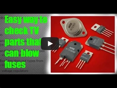 Regulator Tv Samsung what causes a blown fuse in tv sylvania lcd doovi