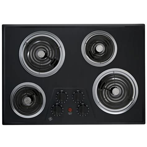 30 in electric cooktop ge 30 inch built in electric cooktop in black the home
