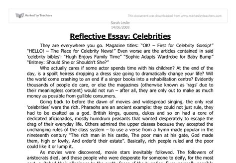 Higher Reflective Essay by Sle Of Reflective Essay Reflective Essay Writing Reflective Writing Sles Higher Reflective