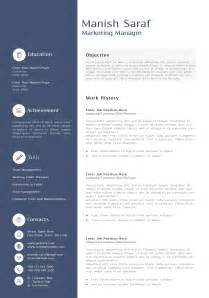 Resume Templates For Marketing by Marketing Resume Templates Berathen