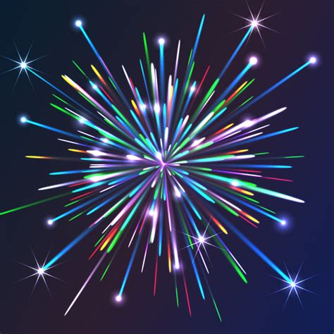 Vector Fireworks Tutorial | illustrator effects how to create colorful vector