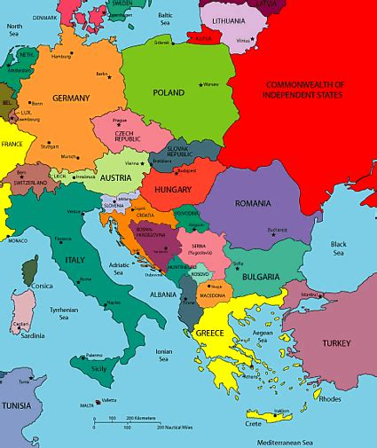 europe map countries maps of europe region country
