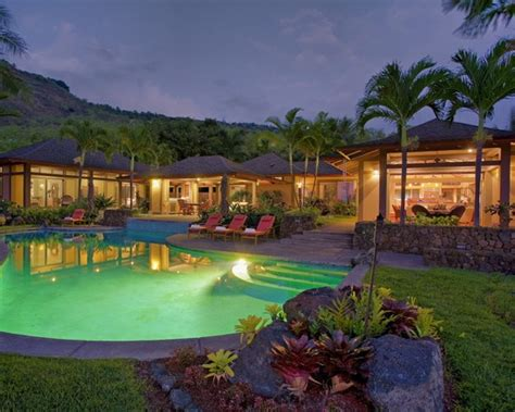 hawaiian themed backyard tropical caribbean style homes design pictures remodel