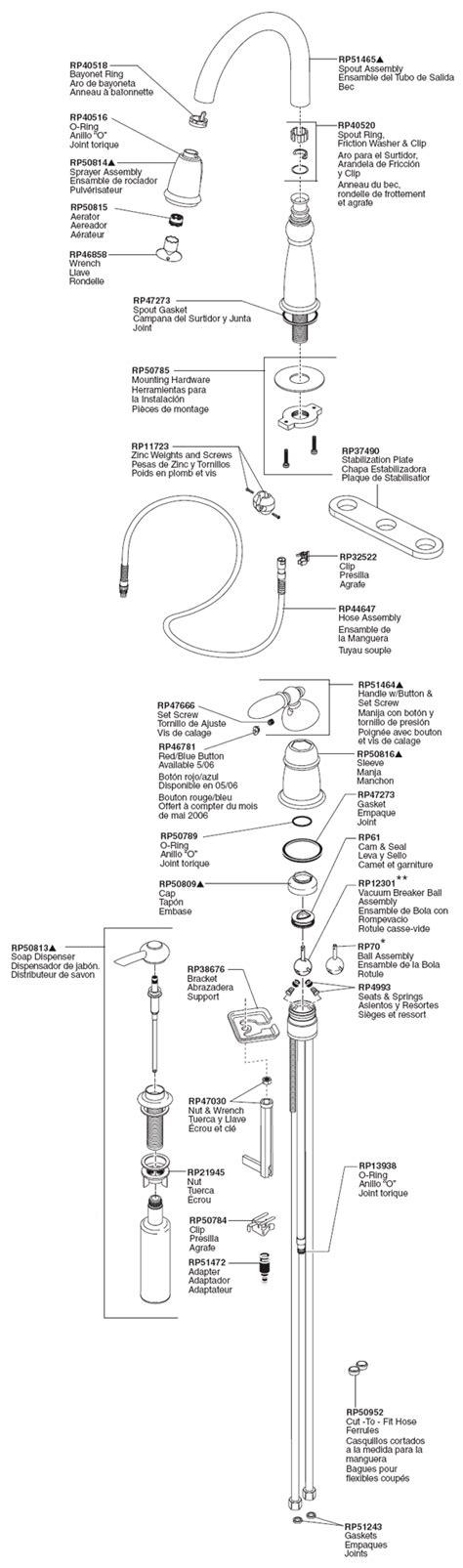 delta faucet 2274 lhp h24 a24 parts list and diagram delta kitchen faucet parts diagram 28 images delta
