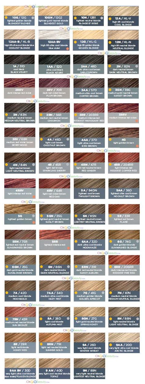 clairol hair color chart best 25 clairol hair color ideas on garnier