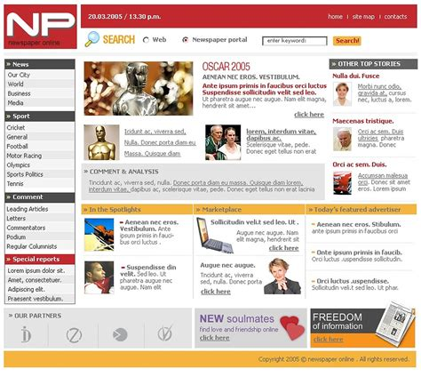 templates for portal website news portal website template web design templates