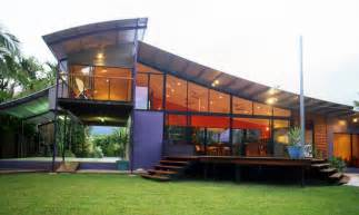 Cool Home Design Ideas Marvelous Unique House Design With Many Windows Tropical