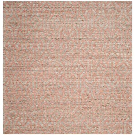 safavieh rag rug rust multi 6 ft x 6 ft square area rug