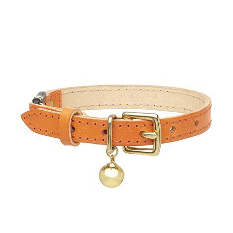 orange collar luxury orange leather cat collar chelsea cats