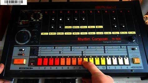 tr pattern youtube roland tr 808 analog rhythm composer drum sounds