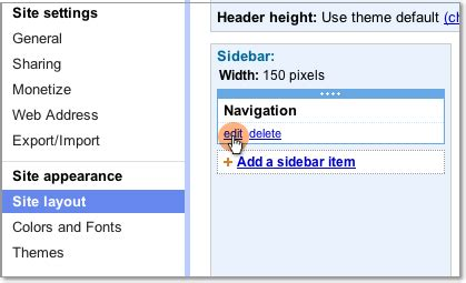 how to change template on google sites add and remove pages from navigation template tips
