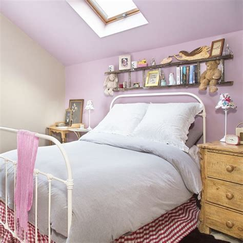 purple feature wall bedroom eaves bedroom with purple feature wall decorating housetohome co uk