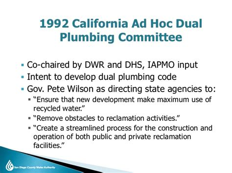 Colorado State Plumbing Board by History Of California Indoor Dual Plumbed Codes And