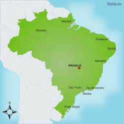 cities on map brazil map with cities