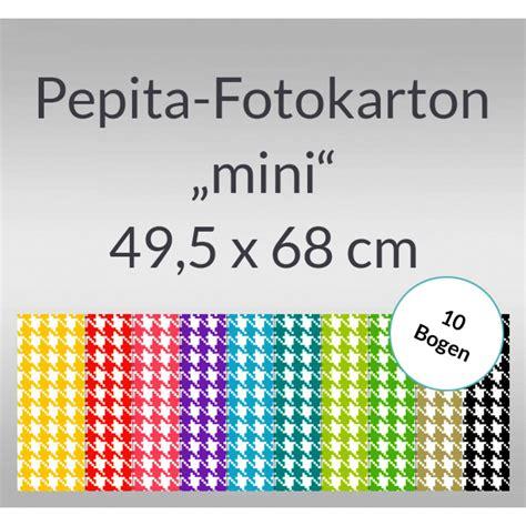 Dompet Rajut Mini 6 5 Cm 1 pepita fotokarton quot mini quot 49 5 x 68 cm 10 bogen buntpapierwelt