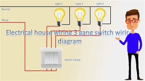 house wiring  gang switch wiring diagram  gang switch