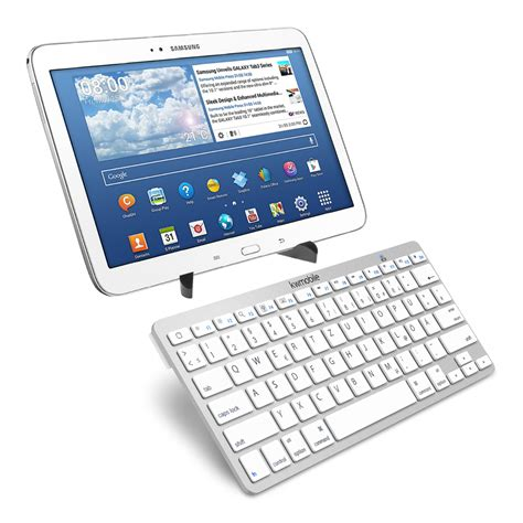 Keyboard Samsung Tab 4 kwmobile bluetooth keyboard f 220 r samsung galaxy tab 4 10 1 tastatur wei 223 tablet ebay